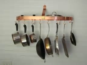 Copper Pan Hanger Pot Racks Pots And Stainless Steel On