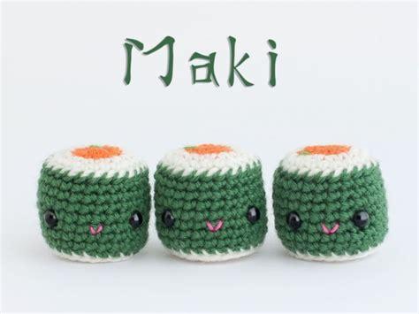 amigurumi sushi pattern amigurumi maki free pattern crocheted toys amigurumi