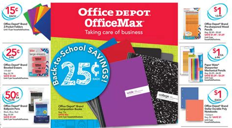 office depot coupons school supplies best school supply deals week of july 23 2017