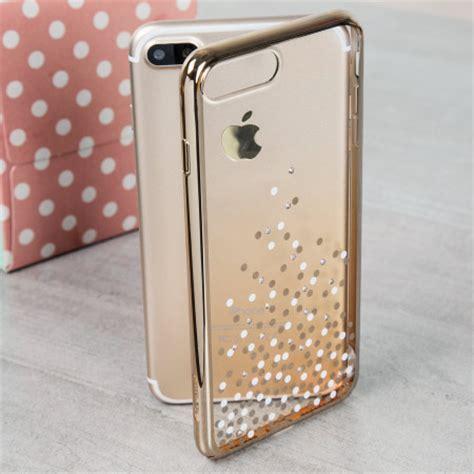 unique polka  iphone   case champagne gold