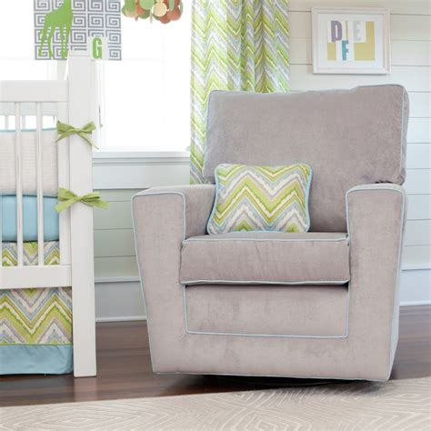Gliders And Rocking Chairs For Nursery Lime Charades Nursery Decor Contemporary Gliders Atlanta By Carousel Designs