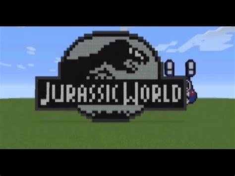 minecraft tutorial world logo full download jurassic world minecraft pixel art