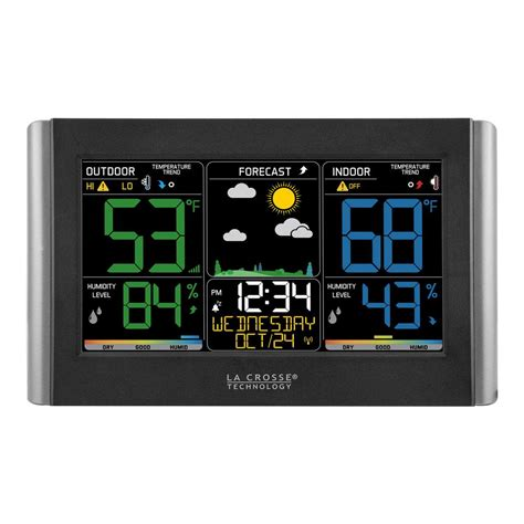 lacrosse wireless color weather station la crosse technology wireless color weather forecast