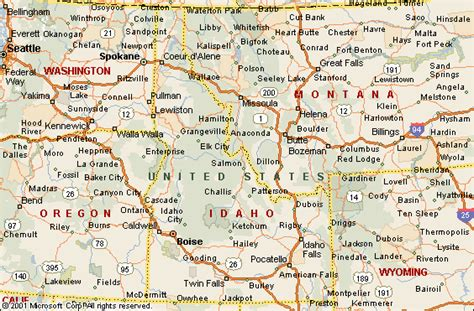 map of oregon and idaho map of oregon and idaho map