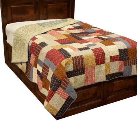 Patchwork King Quilt - patchwork heritage reversible quilt king page 1 qvc