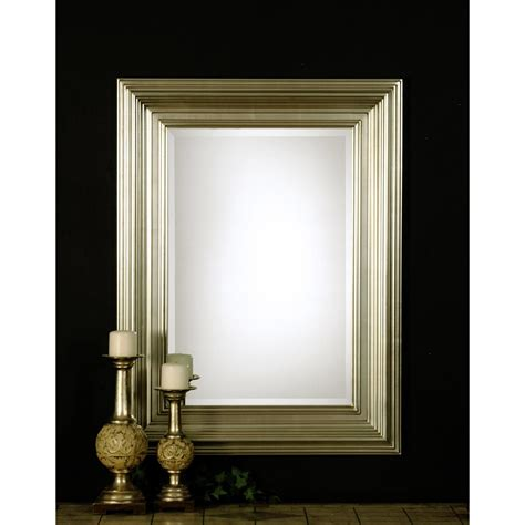 Uttermost Mirrors Rectangular Uttermost Mario Rectangular Beveled Mirror Reviews Wayfair