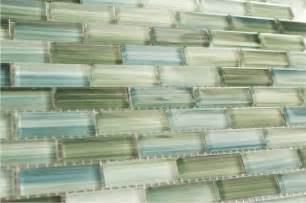 Green Glass Tiles For Kitchen Backsplashes by Green Blue White Subway Glass Mosaic Tile Kitchen