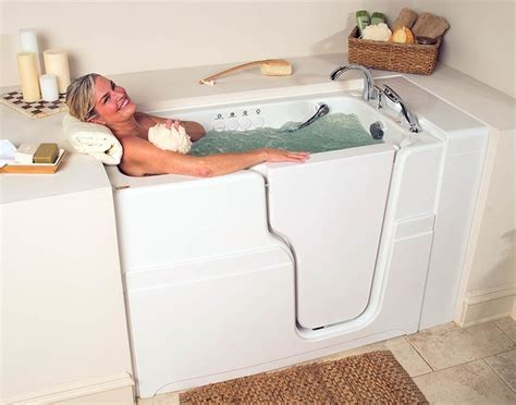 bathtubs for seniors walk in walk in tub get designed for seniors 174 hydrotherapy