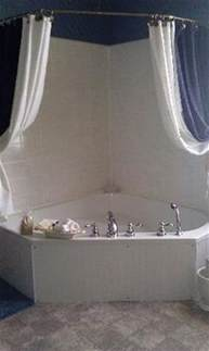 Shower Curtains For Corner Baths 1000 Ideas About Corner Tub On Pinterest Tubs Corner