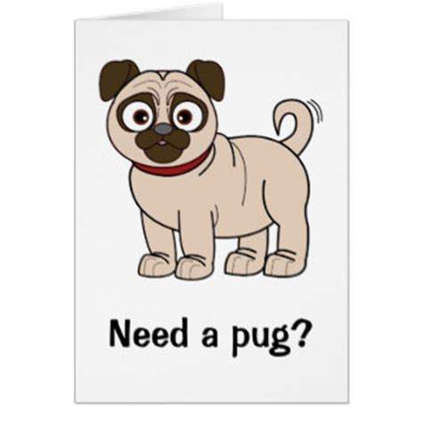 get a pug get well soon pug greeting cards zazzle