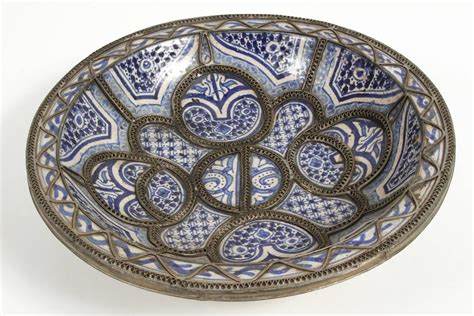 large decorative plates for the wall large decorative ceramic plates from fez for sale at 1stdibs