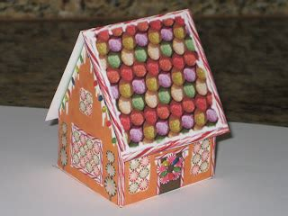 gingerbread house pop up card template cards and papercrafting decorated pop up