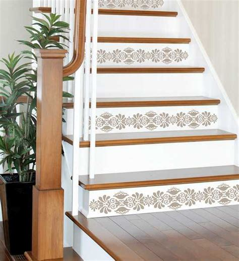 revamp staircase design  easy stencil decoration