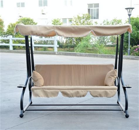 Reclining Patio Swings With Canopy by Reclining Patio Swing With Canopy Aosom Ca
