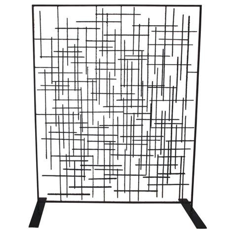 iron room divider 60 s wrought blackened iron room divider at 1stdibs