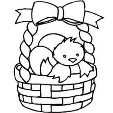 coloring page easter basket with eggs easter egg basket coloring pages valla
