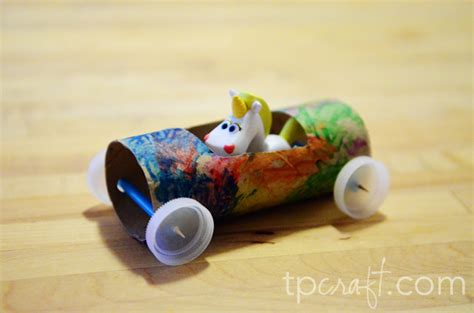 Toilet Paper Roll Car Craft - tpcraft toilet paper roll race car