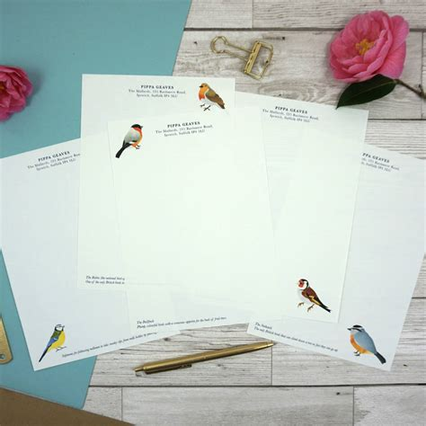 personalised writing paper aviary collection personalised writing paper by jeeves