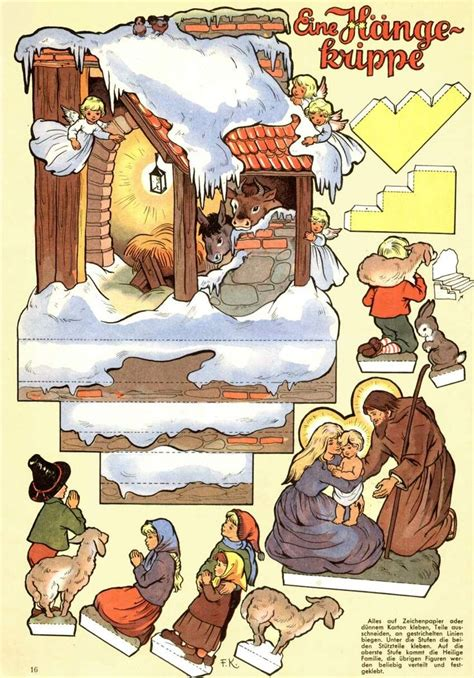 free printable nativity diorama sh2120 jpg 848 215 1214 recortables bel 201 n pinterest