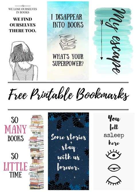 printable book quotes free printable bookmarks bookmarks free printable