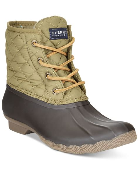 sperry boots sperry top sider saltwater two toned water resistant boots