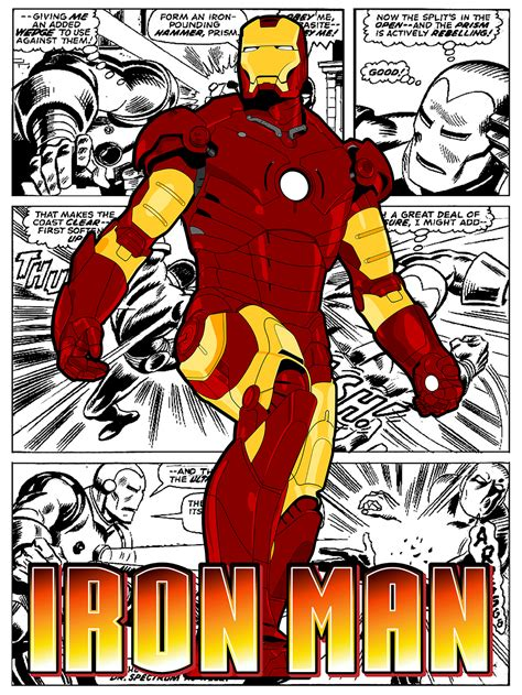 Printable Iron Man Comics | comic posters chris rhodes design
