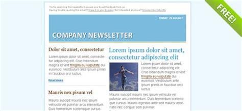 Newsletter Template Vorlage Blaue Email Marketing Newsletter Vorlage Der Kostenlosen Psd