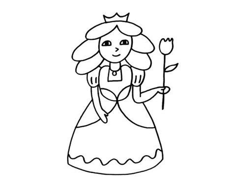 dibujos de princesas para colorear corona de princesa princesa con flor dibujo para colorear e imprimir