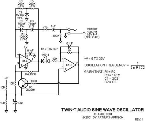 integrated circuit oscillator t audio sine wave oscillator