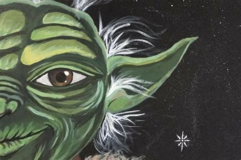 paint nite yoda diy yoda wall for room akron ohio