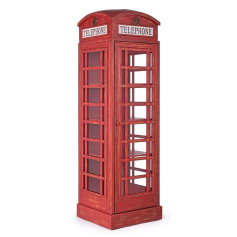 cabina inglese telephone credenza di design a forma di cabina