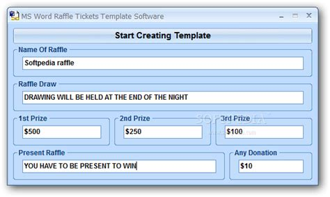search results for raffle ticket template free word