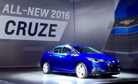 world debut of the 2016 chevy cruze new design and new