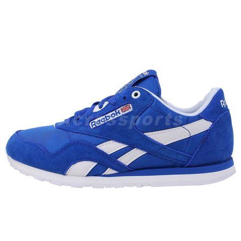 slim running shoes reebok cl slim blue suede 2013 womens retro running