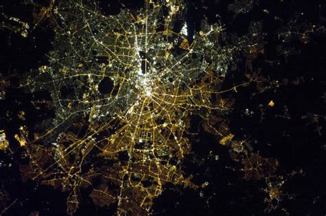 lights east city lights from space
