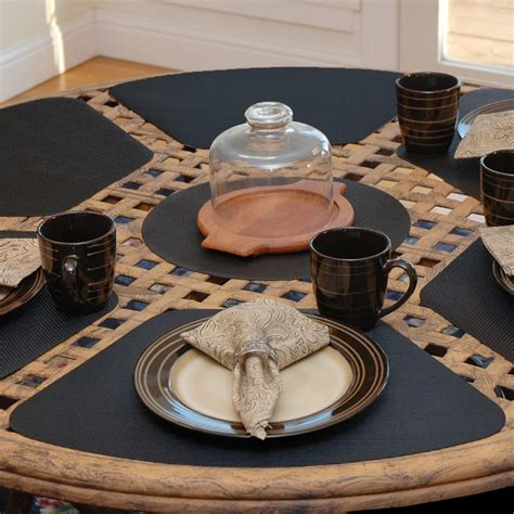 wedge placemats for round table wedge placemats black wipe clean wedge shaped round table