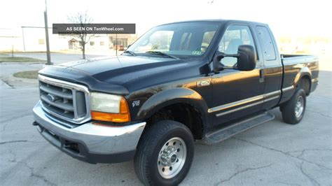 f250 bed 2000 ford f250 xlt 4x4 v10 gas auto ex cab short bed black