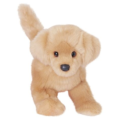 golden retriever with stuffed animal the plush golden retriever puppy by douglas