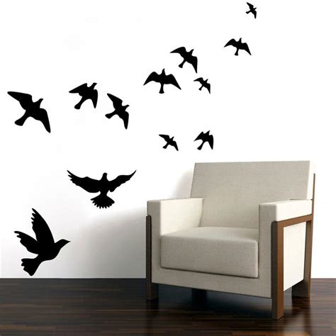 wall stickers decor modern flying birds wall sticker stickers home decor living room