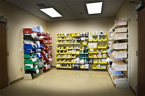 room supplies sterile supply storage in clean utility rooms at atrium center donnegan systems dsi
