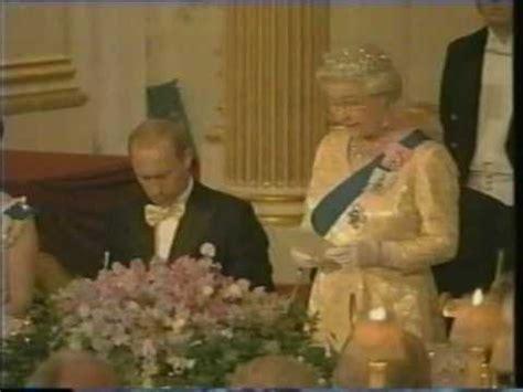the queen hosts vladimir putin youtube