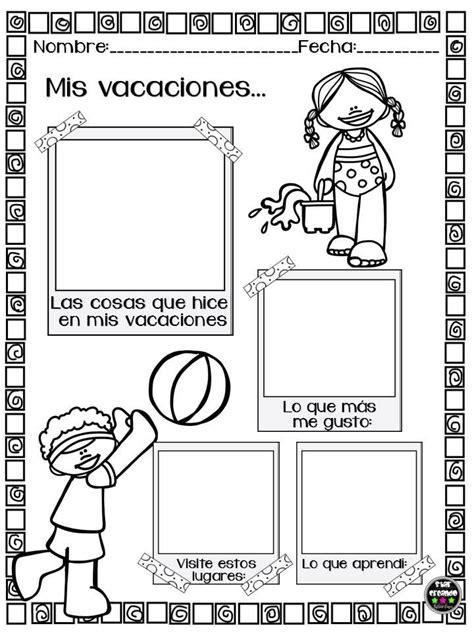 imagenes vacaciones preescolar mini cuadernillo mis vacaciones 1 im 225 genes educativas