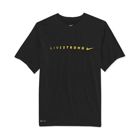 Tshirt Nike Livestrong nike livestrong legend running t shirts in black for