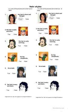 hair style esl 65 free esl hair worksheets