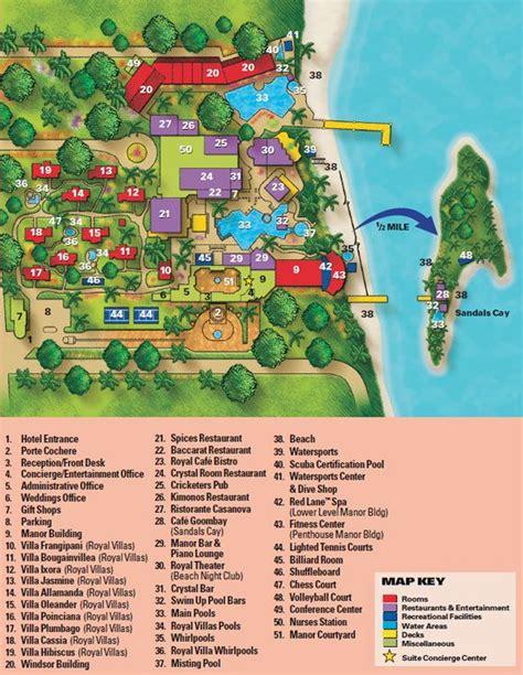sandals royal caribbean resort map map layout sandals royal bahamian favorite places