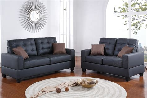 2 pcs sofa set sofa loveseat bobkona furniture
