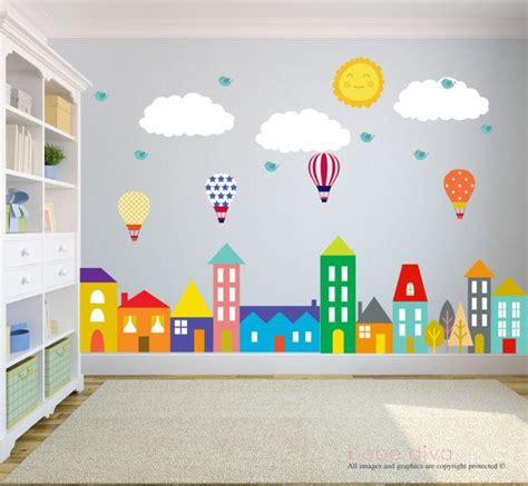 Aufkleber Kinderzimmer Wand by Stadt Wandtattoo Wand Aufkleber Kinderzimmer Baby Wall