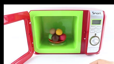 just like home microwave toys learning colors play dough