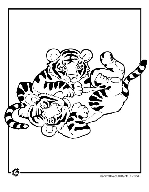 Tiger Cub Coloring Pages by Tiger Cubs Coloring Page Woo Jr Activities