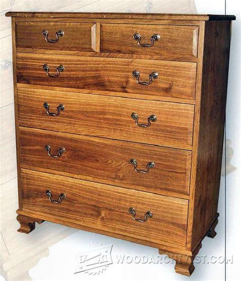 fumed oak chest  drawers plans woodarchivist